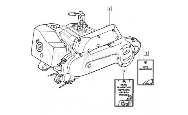 Motordelen Vespa LX50 2T 50km/h