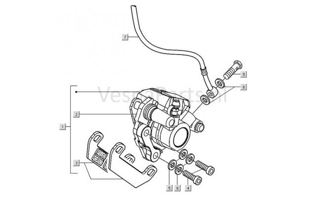 Remblok delen Vespa LX