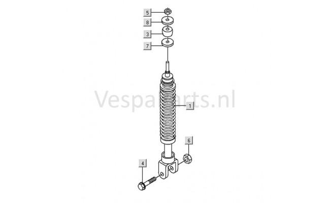Achterschokbreker Vespa LX