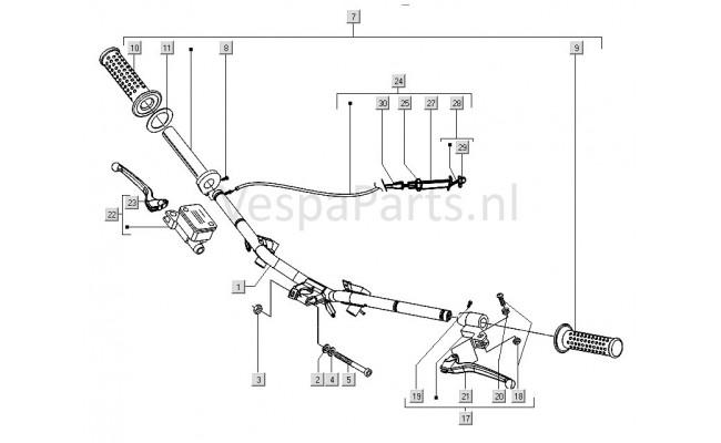 Stuur/Handel onderdelen Vespa LX
