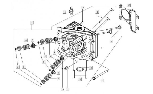 Cylinderkop Vespa S