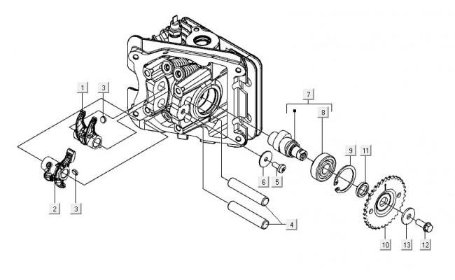 Kleppenhuis cilinderkop Vespa S