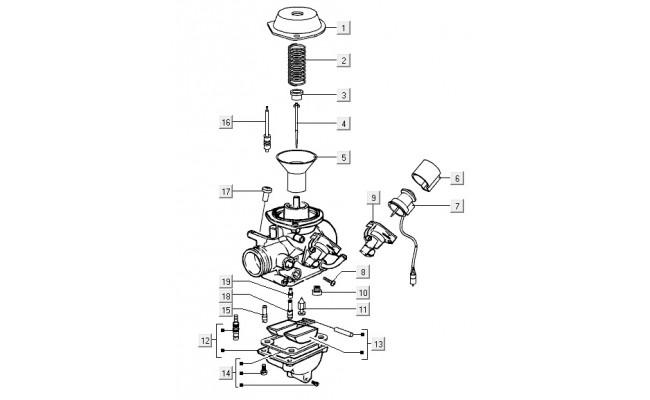 Carburateur onderdelen Vespa S