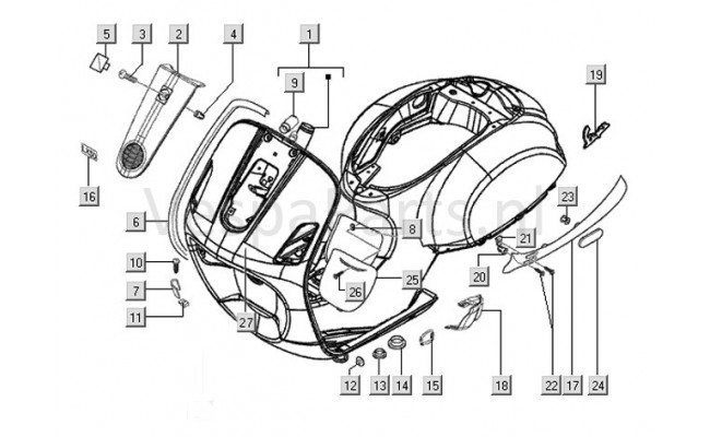 Chassis, Frame Vespa LXV