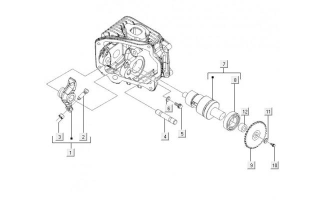 Klephuis Cylinderkop Vespa LXV