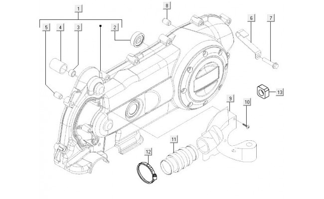 Motorblok Deksel Vespa LXV