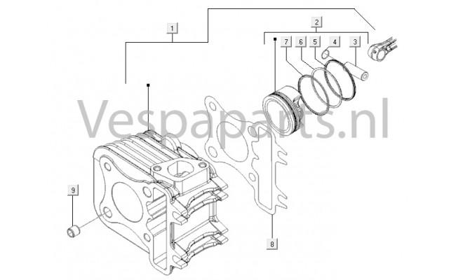 Cilinder-zuiger-pols Pin-eenheid