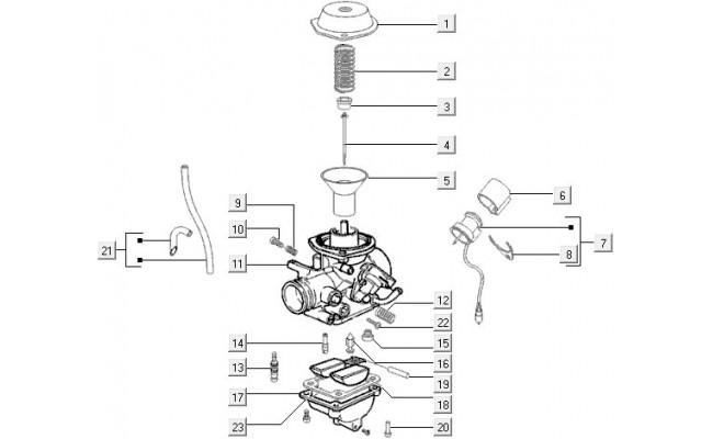 Carburateurcomponenten Vespa LXV