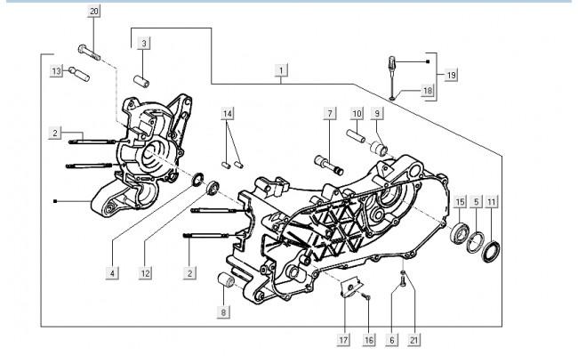 Motorblok Vespa LXV
