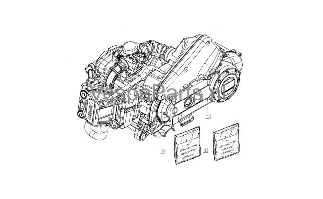 Motordelen LXV 4-takt 2V ZAPC389