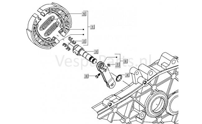 Achterremschoen Vespa LXV
