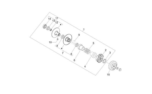 Koppeling Vespa Sprint