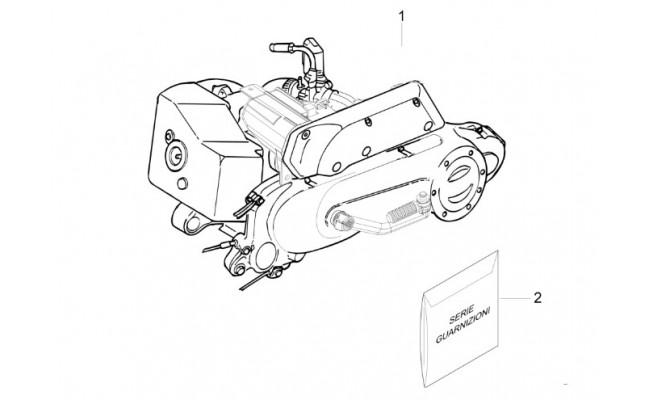 Complete motor Vespa Sprint 50 2T